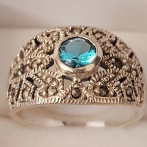 Vintage Jewelry - 925 silver, Marcasite Ring 5.32gr Ss6